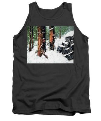 Snowy Redwood Dream Tank Top