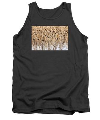 Sunflowers In Snow Tank Top