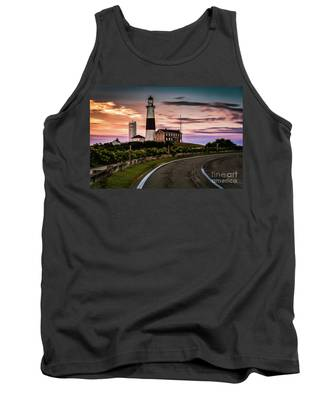 Sunrise Road To The Montauk Lighthous Tank Top