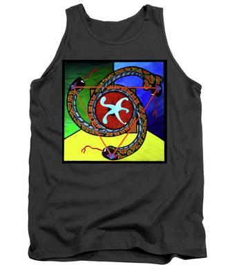 The Vitruvian Serpent Tank Top