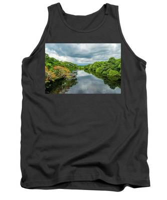 Cloudy Skies Over The River Tank Top