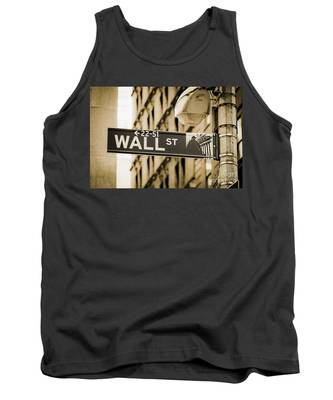 Tank Top featuring the photograph Wall Street by Juergen Held