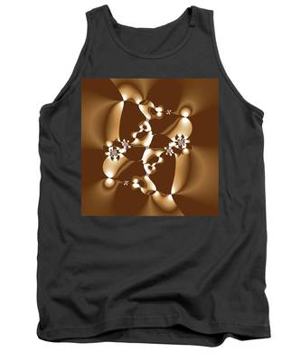 White And Milk Chocolate Fractal Tank Top