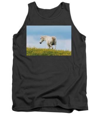 White Horse Of Cataloochee Ranch - May 30 2017 Tank Top