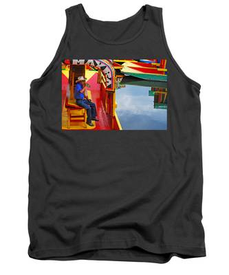 Tank Top featuring the photograph Xochimilco by Skip Hunt