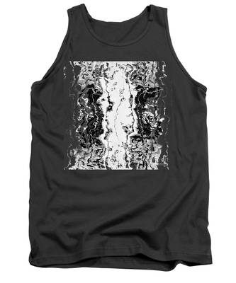 Tank Top featuring the drawing B W Iner by A zakaria Mami