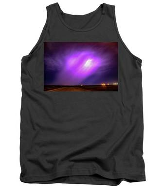 Tank Top featuring the photograph Dying Late Night Supercell 016 by NebraskaSC