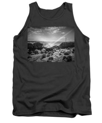 Eagle Rock, Grand Canyon In Black And White Tank Top