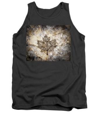 Leaf Imprint Tank Top
