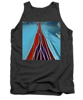 Tank Top featuring the painting My Way by A zakaria Mami