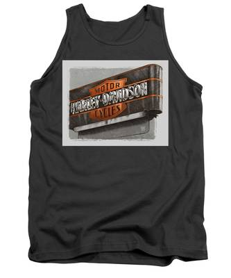Vintage Motorcycle Shop Tank Top