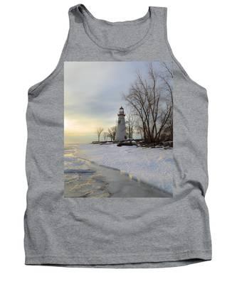Marblehead Lighthouse Winter Sunrise Tank Top