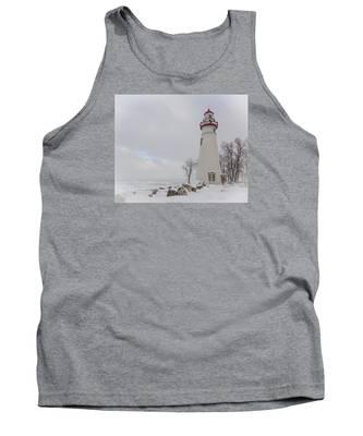 Marblehead Lighthouse Lake Erie Tank Top