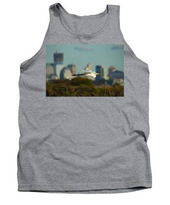 Flight Of The Great Egret Tank Top