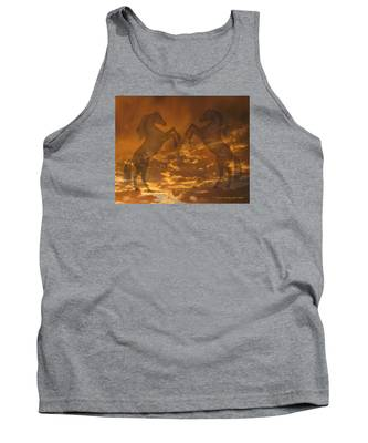 Ghost Horses At Sunset Tank Top
