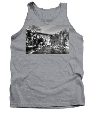 Great Falls In The Winter Tank Top