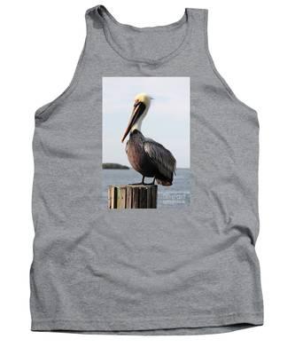 Handsome Brown Pelican Tank Top