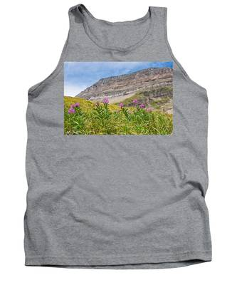 Meadow Of Fireweed Below The Continental Divide Tank Top