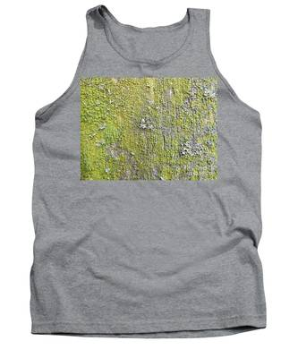 Natural Abstract 1 Old Fence With Moss Tank Top