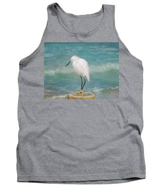 One With Nature - Snowy Egret Tank Top