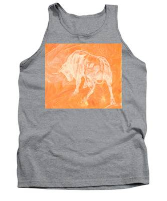 Orange Bull Negative Tank Top