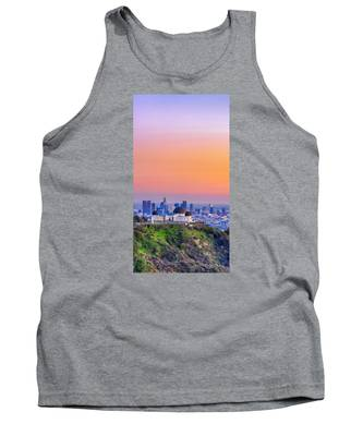 Orangesicle Griffith Observatory Tank Top