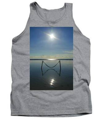 Tank Top featuring the photograph Tres Luces by Skip Hunt