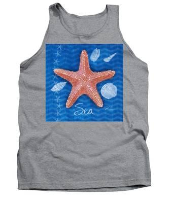 Seashells On Blue-sea Tank Top