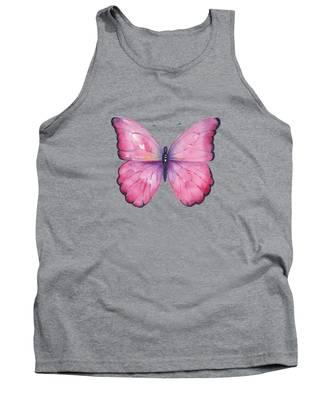 105 Pink Celestina Butterfly Tank Top