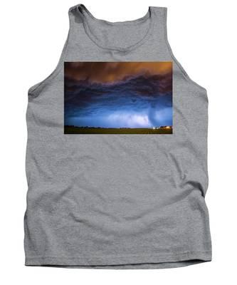 Tank Top featuring the photograph Another Impressive Nebraska Night Thunderstorm 008/ by NebraskaSC