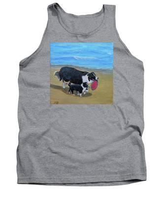 Beach Frisbee Tank Top