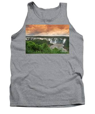 Tank Top featuring the photograph Brazil,iguazu Falls,spectacular View by Juergen Held
