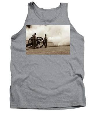 Civil War Era Cannon Firing  Tank Top