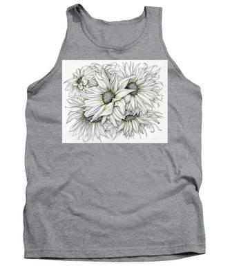 Sunflowers Pencil Tank Top
