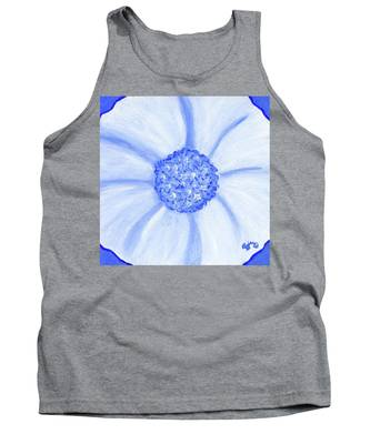 Flower Blue Power Tank Top
