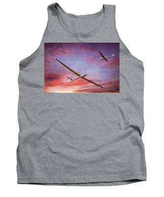 Gliders Over The Devil's Dyke At Sunset Tank Top