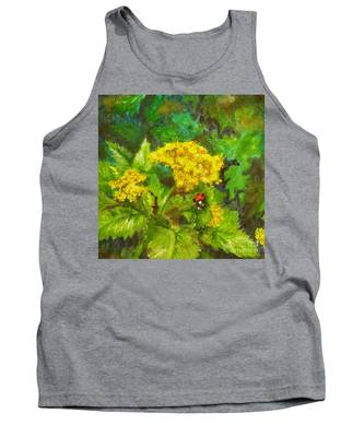 Golden Summer Blooms Tank Top