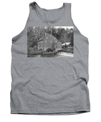 Gray Autumn At The Old Mill In Clinton Tank Top