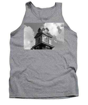 Historic Courthouse Steeple In Bw Tank Top