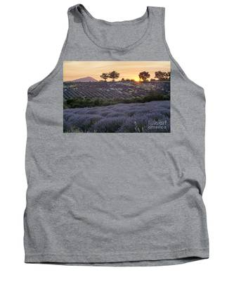 Tank Top featuring the photograph Lavender Field Provence  by Juergen Held