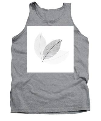 Monochrome Leaves Tank Top