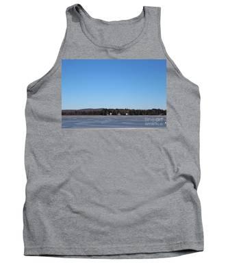 Poconos, The Lake In January Tank Top