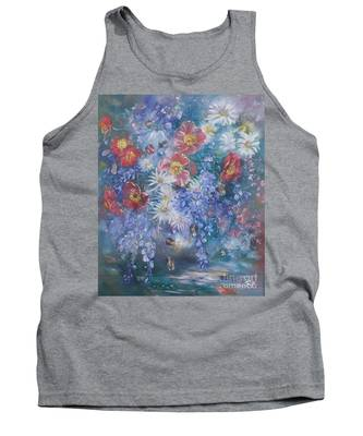 Poppies, Wisteria And Marguerites Tank Top