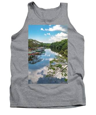 River Boats Docked In Negril, Jamaica Tank Top