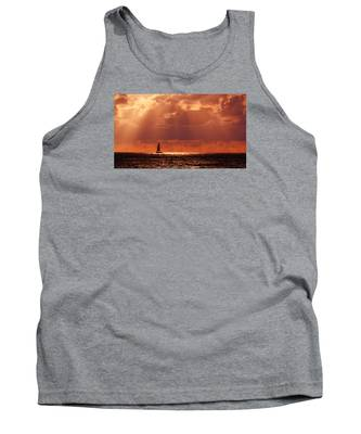Sailboat Sun Rays Tank Top