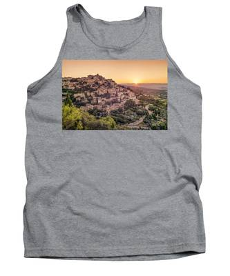 Tank Top featuring the photograph Sunrise In Gordes Provence  by Juergen Held