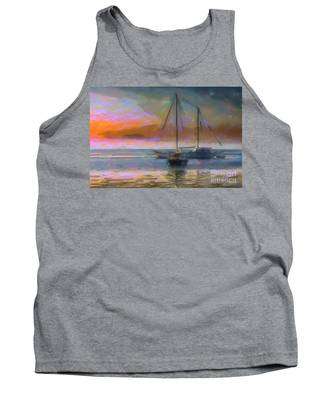 Sunrise With Boats Tank Top