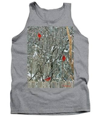 Winter Cardinals Tank Top