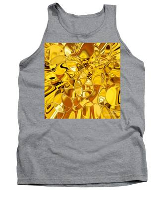 Tank Top featuring the digital art Boules D Or by A zakaria Mami