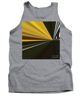 Tank Top featuring the painting By Night by A zakaria Mami